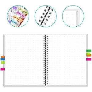 Image 2 - NEWYES dot grille Smart réutilisable effaçable spirale A4 cahier papier bloc notes Journal Journal bureau école voyageurs dessin cadeau