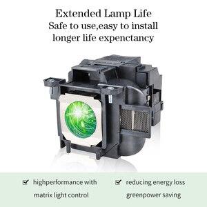 Image 3 - תואם EB X04 EB X27 EB X29 EB X31 EB X36 EX3240 EX5240 EX5250 EX7240 EX9200 עבור Epson ELPLP88 V13H010L88 מנורת מקרן