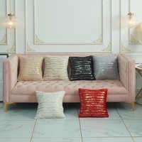 Домашние чехлы для диванов 45*45 см без внутренней площади красный черный белый плюш горячая штамповка подушки наволочки X122