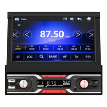 VODOOL  7 inch Car Radio MP5 Player Multimedia Video Player Retractable Display Bluetooth USB TF Card AUX Input Auto Stereo