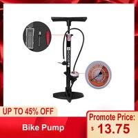 Bomba da bicicleta bomba de assoalho mtb bicicleta estrada piso 160psi inflar presta schrader válvula precisa inflação do pneu pé da bicicleta bomba|Bombas bic.|Esporte e Lazer -