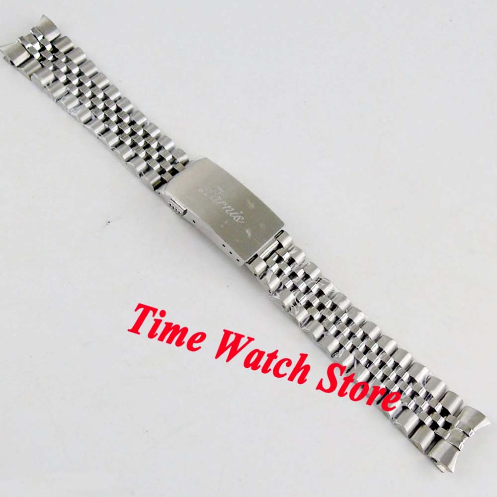 New PARNIS Jubilee 20mm Width 316L Stainless Steel Watch Band Watch Strap Bracelet Fit 40mm SUB Men's Watch B1