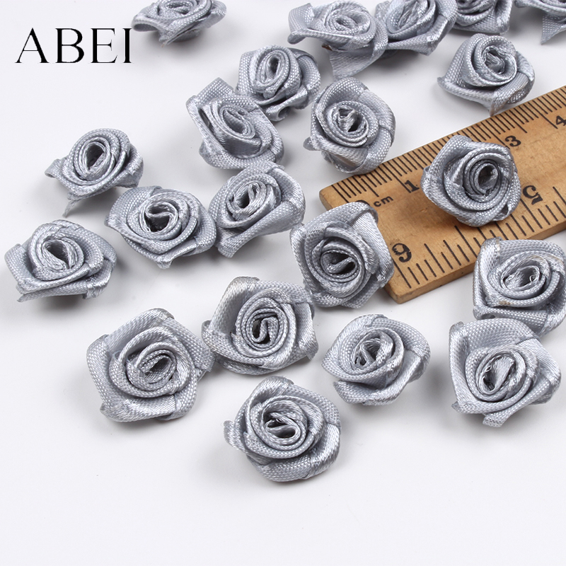 100 шт 15 мм серая Роза голова для свадебного скрапбукинга украшения DIY швейная одежда на заказ ленты аксессуары для бутика
