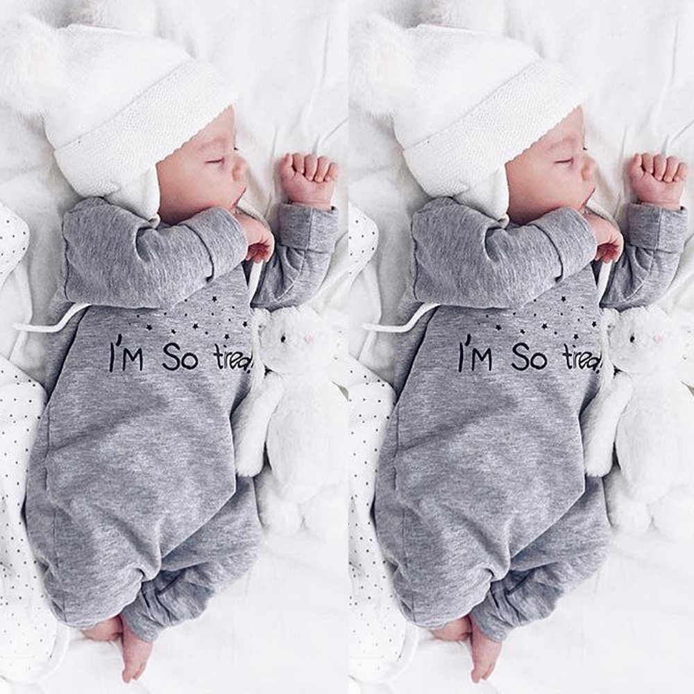 Newborn Infant Baby Boy Girl Letter Romper Jumpsuit Playsuit New Born baby clothes Set Infant Kids Outfit s Clothes Letters