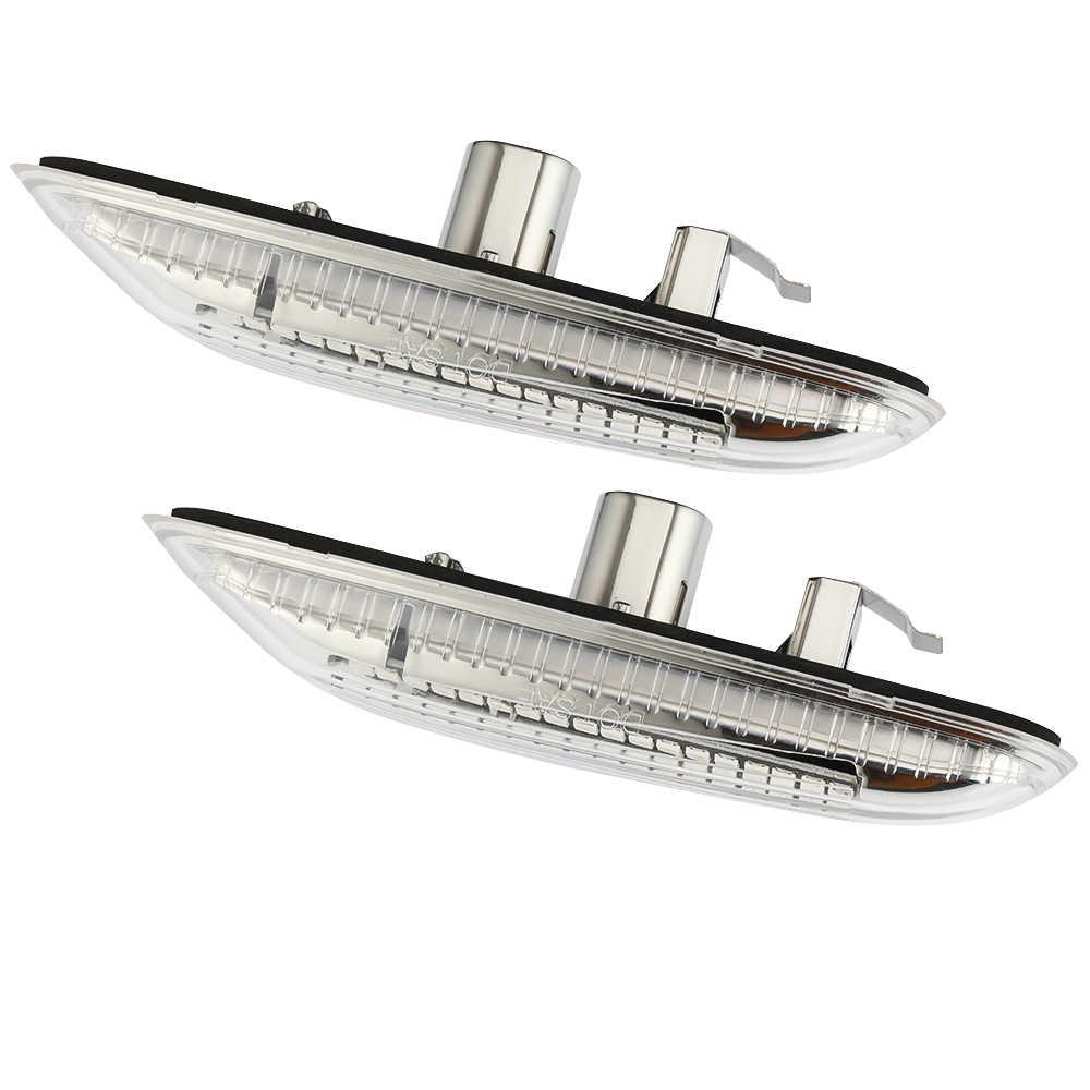 2PCS Dinamico Che Scorre LED Indicatori di Direzione Luce di Indicatore Laterale di Direzione Lampeggiante Sequenziale Lampada per BMW E60 E61 E90 E91 E81 e82 E88 E46 X3 X1
