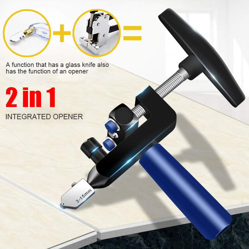 Manual Tile Mirrors Cutter Handheld Multi-Functional Glass Cutter Set Ceramic Tile Opener Easy Glass Tile Cutter Hand Tools