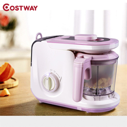 Costway 5 In 1 Heating Defrosting Multifunctional Baby Food Maker Infant Feeding Blender Overheat Protection Food Processor