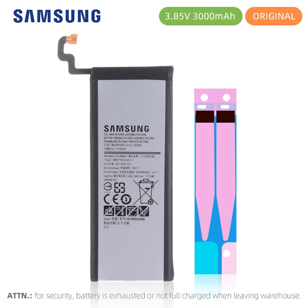 SAMSUNG EB-BN920ABE For Samsung GALAXY Note 5 N9200 N920t N920c Note5 SM-N9208 N9208 3000mAh Spare Phone Battery