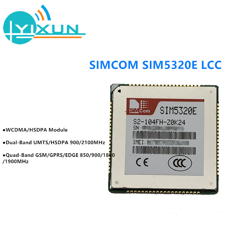 SIMCOM SIM5320E Dual-Band HSDPA/WCDMA Quad-Band GSM/GPRS/EDGE Module LCC Package Supports HSDPA Up To 3.6Mbps For Downlink Data