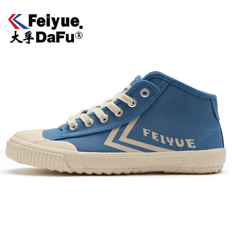 Feiyue Nieuwste 2168 High-top Canvas Schoenen Platte Mannen Vrouwen Schoenen Gevulkaniseerd Sneakers Ademend antislip Sneakers Gratis verzending