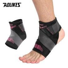 AOLIKES; регулируемый коврик для поддержки лодыжки, эластичный бандаж, фиксатор лодыжки, защита растяжения, обертывание от травм, пяточная площадка для баскетбола