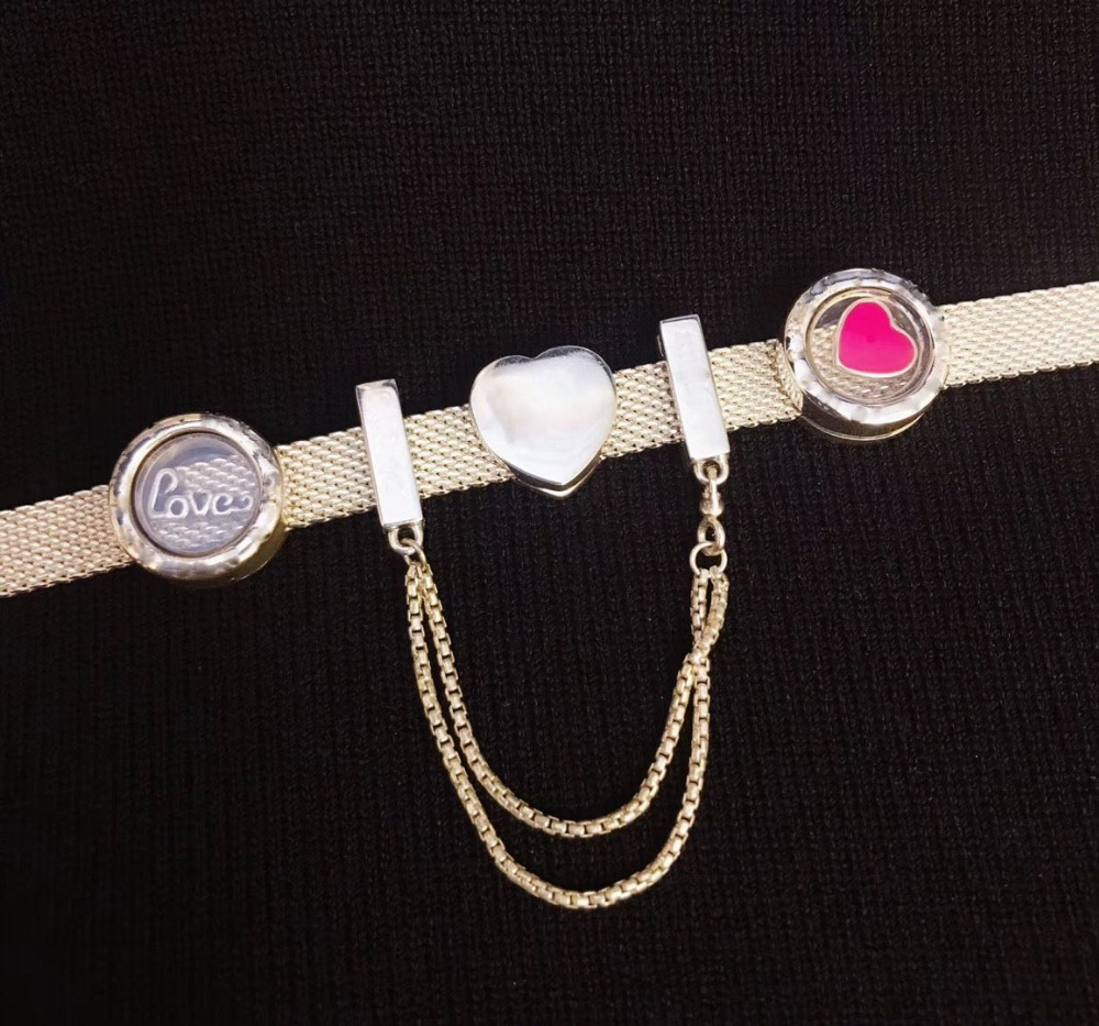Haute qualité 1:1 100% 925 argent sterling amour bracelet livraison gratuite sécurité