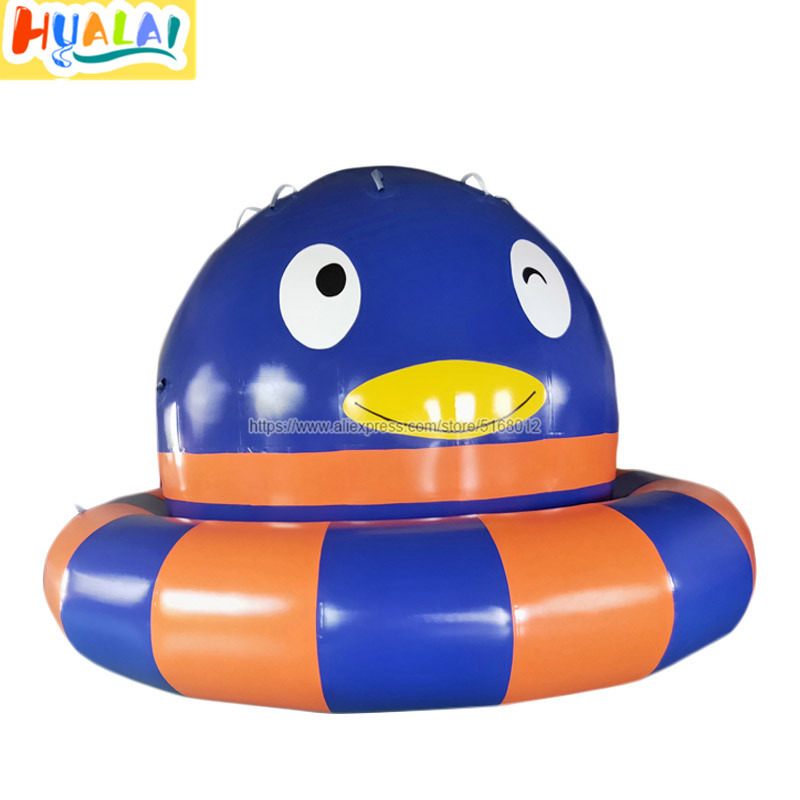 Inflatable Summer Water Park Penguin Pattern Water Gyro Games For Adult And Children Pvc  Diameter 3m