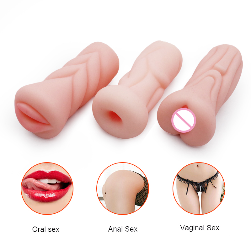 Adult Sex Toys For Men Realistic Deep Throat Male Masturbator Silicone Artificial Vagina Mouth Anal Erotic Oral Aircraft Cups