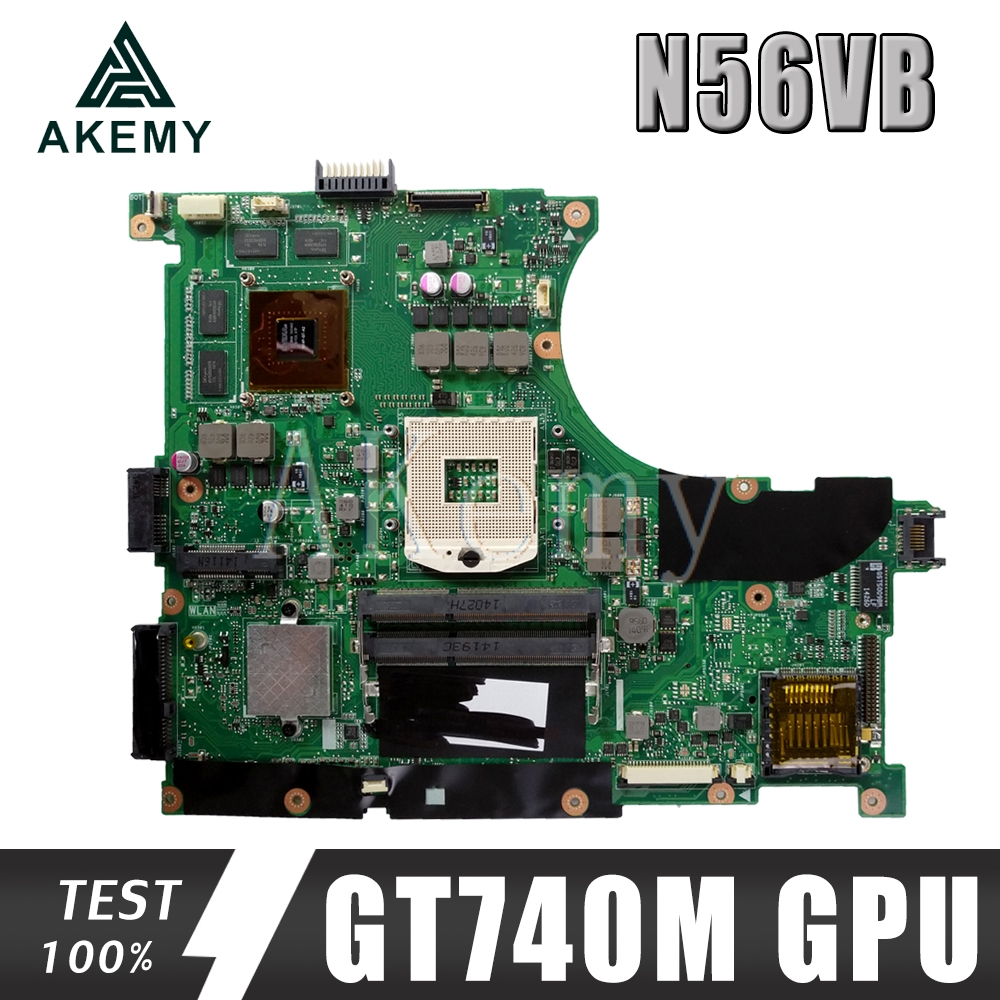 N56VB Mainboard For ASUS N56VM N56VZ N56V N56VV N56VJ Laptop Motherboard Tested 100% Work Original Mainboard GT740M GPU