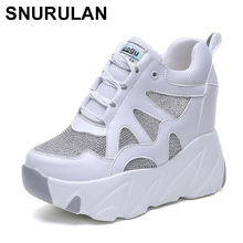 SNURULAN 2019 New Arrival Spring Autumn Fashion Casual Shoes 10cm High