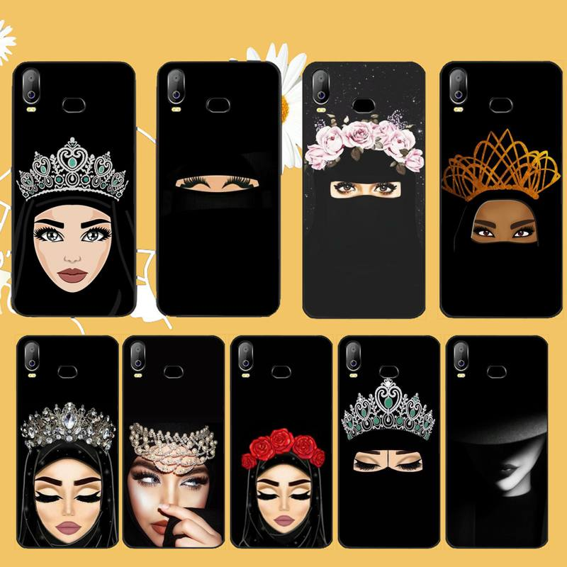 NBDRUICAI Arabic Hijab Girl Queen Crown DIY Printing Phone Case cover For Samsung A10 A20 A30 A40 A50 A70 A71 A51 A6 A8 2018 image