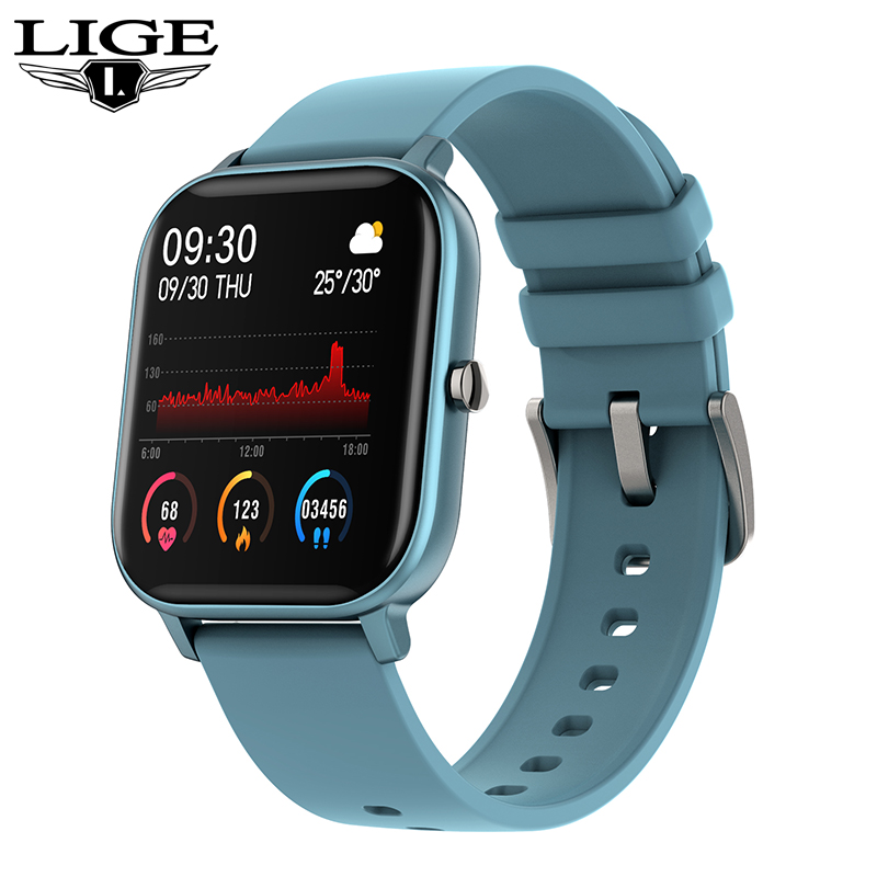 LIGE 2020 New Smart Watch Men <font><b>OLED</b></font> Color Screen Heart Rate Blood Pressure Waterproof Sport smartwatch fitness Tracker smart band image