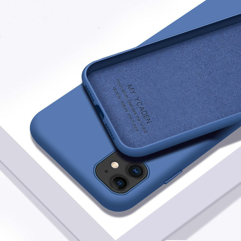 Thin Soft <font><b>Case</b></font> For <font><b>iPhone</b></font> 7 <font><b>8</b></font> 6 6s Plus <font><b>Original</b></font> Liquid Silicone Cover Candy Color For <font><b>iPhone</b></font> X Xs 11 Pro Max XR Back Cover image