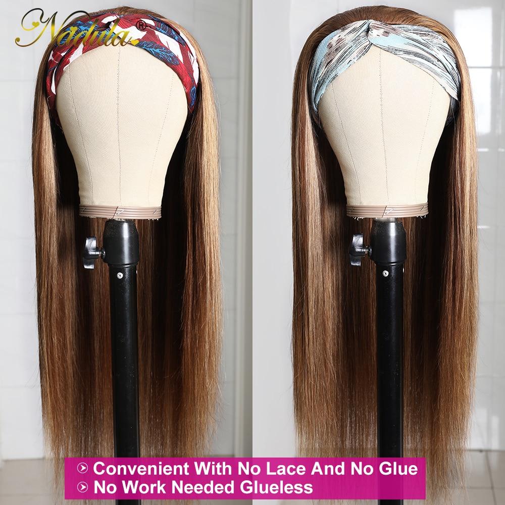 Nadula Highlight Straight  Headband Wigs 12-26inch Headband Wig  150% Density Honey Blonde Glueless Wigs 3
