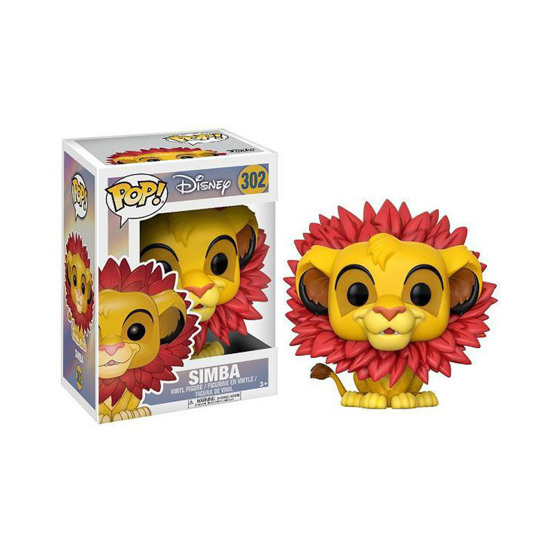 FUNKO POP Disney Cartoon Movie The Lion King Simba 302# Vinyl Action Figure Collected Model Toys For Children Christmas Gift