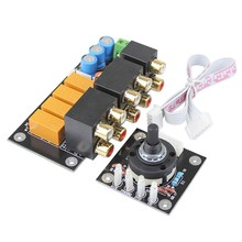 RCA Audio Switch Pilihan Input Papan Lotus Kursi Stereo Relay 4-Way Audio Sinyal Input Selector Amplifier Penguat DIY(China)