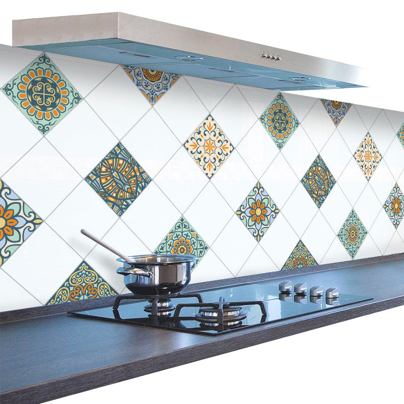 DIY Kitchen Wallpaper High Temperature Paste Self-adhesive wall paper Foil Waterproof Bathroom PVC Wall Sticker Home Decor