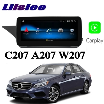 Liislee Car Multimedia Player NAVI CarPlay For Mercedes Benz MB E Class Coupe C207 A207 2009~2017 Car Radio GPS Navigation image