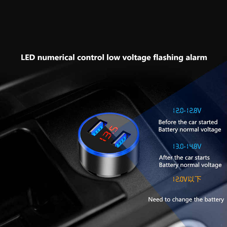 2019 USB Car LED Phone Charger Auto Accessories For Dacia duster logan sandero stepway lodgy mcv 2 dokker