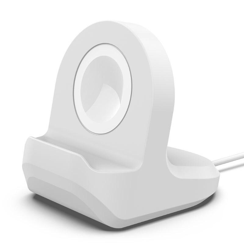 Силиконовая Подставка для зарядки, док-станция для apple watch серии 1/2/3/4, 42 мм, 38 мм, 40 мм, 44 мм, зарядный кабель