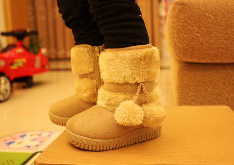 DOGEEK Winter Girls Boots Cotton Toddler Children Snow Boots Non-slip Kids Girl Thicker Fur Shoes Baby Warm Shoes Classic Boots