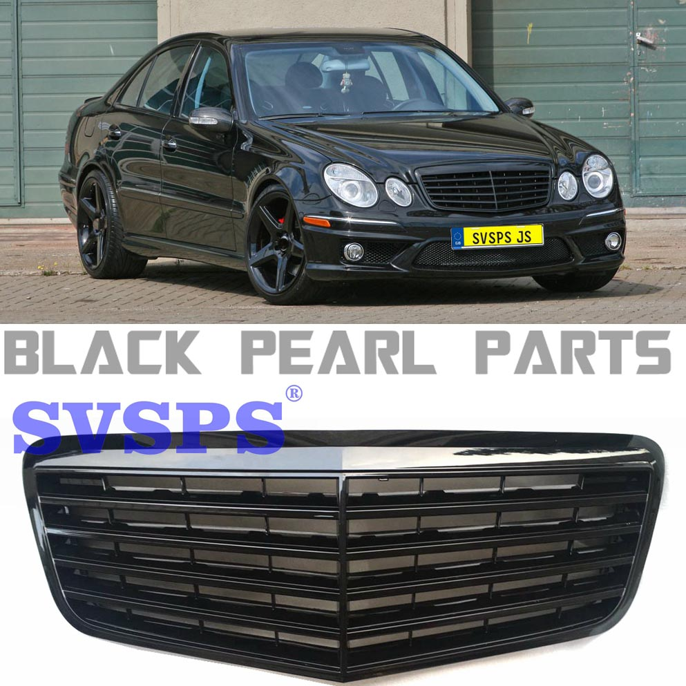 Auto Parts E Class klasse <font><b>w211</b></font> e63 amg <font><b>mercedes</b></font>-tuning Front MIddle <font><b>Grille</b></font> for <font><b>Mercedes</b></font> E200 E240 E280 Benz e63 E320 Vehicle image