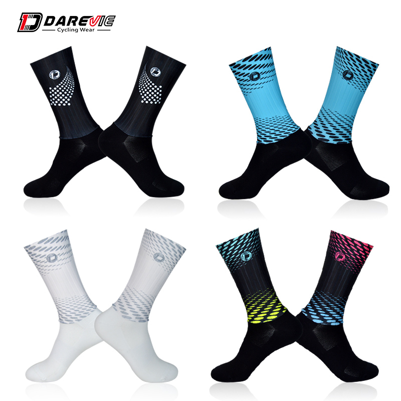 Darevie Cycling Socks Super Anti Slip Cycling Sock High Speed Aero Bike Socks Breathable Racing Bicycle Socks MTB Road Women Men