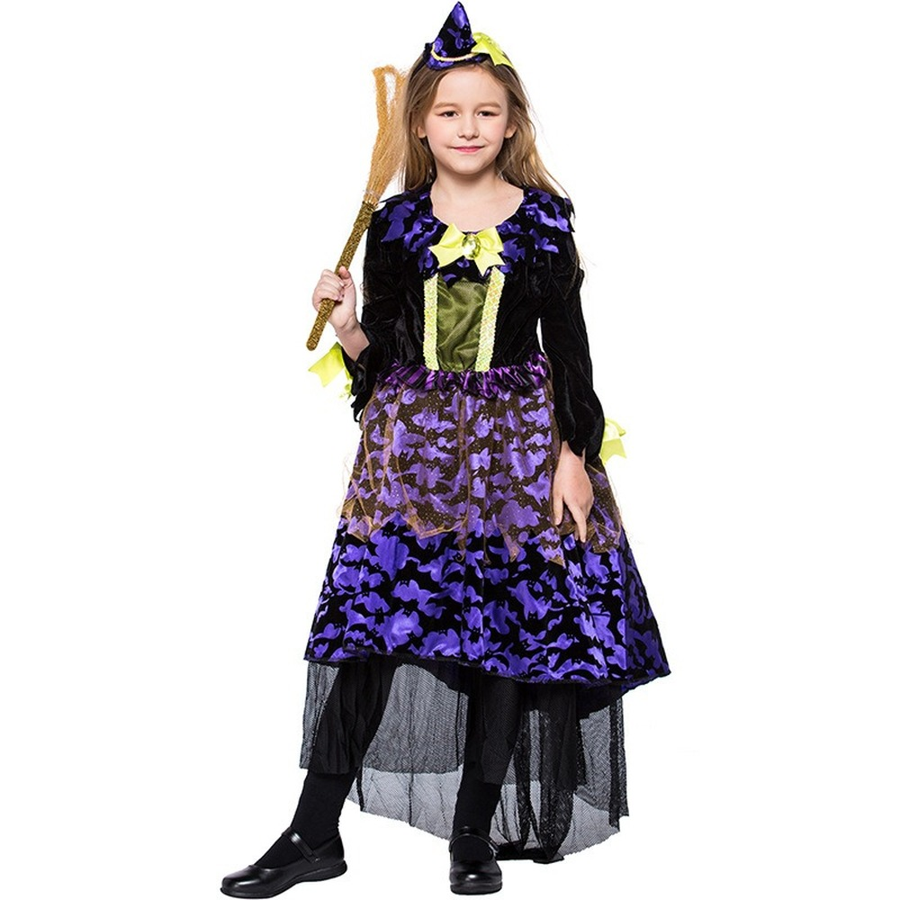 Girls Purple Halloween Witch Costume Kids Carnival Party Role Playing Outfits Children Festival School Performance Dress Girls Costumes Aliexpress