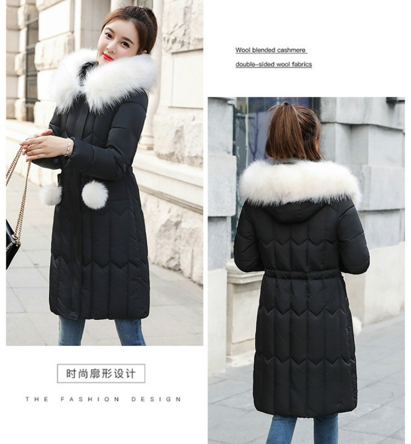 Plus size winter coat women padded cotton hooded women long jacket outwear slim white warm vintage female parka new 2019 DR1195 (4)