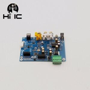 Image 3 - ES9038Q2M ES9038 Q2M I2S DSD optik koaksiyel IIS/DSD DOP % 384KHz giriş dekoder DAC kulaklık çıkışı ses amplifikatörü kurulu