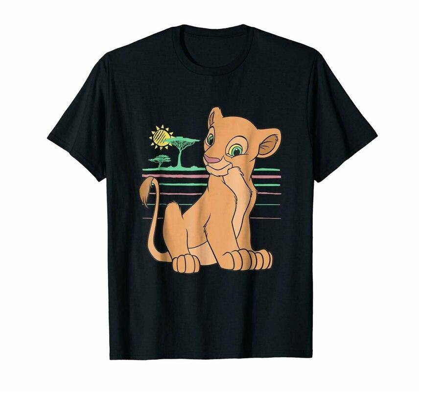 Negro El rey león joven Nala 90S camiseta hombres S-6Xl Us 100% algodón básico Modelstee camisa 5-9 unids/set PVC El Rey León Simba Nala Timon figura de acción juguete Animal León estatuilla juguetes para niños 5-9 cm