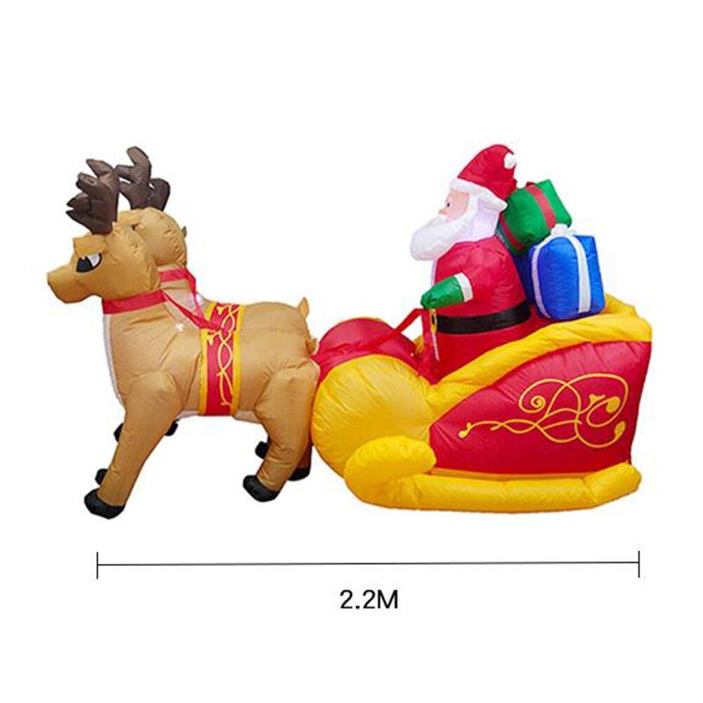 Рождественский Санта Клаус надувной олень сани тележка надувной олень сани замок для детей рождественские подарки Рождественский реквизи... - 5