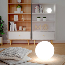 Modern Floor Light Ball PVC Lamp Home Decor Art Stand Bedroom Bedside Remote Charging Living Room Standing
