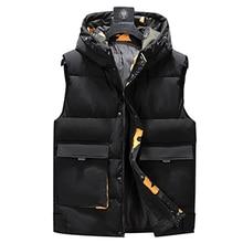 Artı boyutu 8XL 7XL 6XL 5XL kamuflaj kış sıcak pamuk yelek erkekler için kollu olmadan sonbahar erkek rahat kolej kalın hoodie
