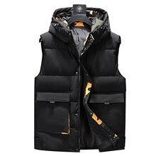 Plus Größe 8XL 7XL 6XL 5XL Camouflage Winter Warme Baumwolle Weste Ohne Ärmel Für Männer Herbst Männlichen Casual College Dicke hoodie