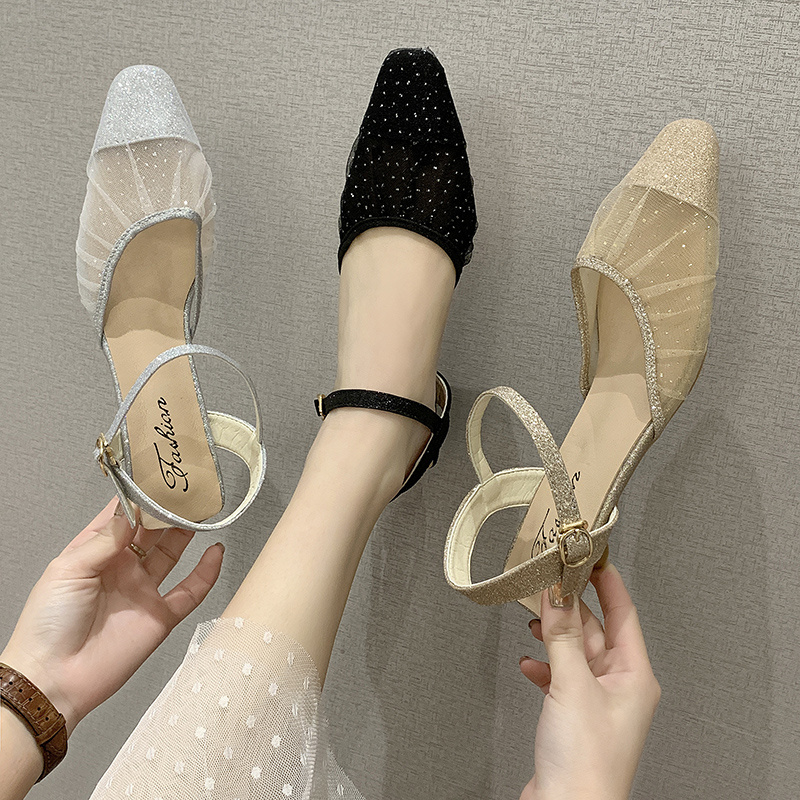 Sandals Stiletto Heels Fashion Womens Shoes 2020 Slip-on Loafers Summer Women's Espadrilles Platform All-Match Med Suit Female(China)