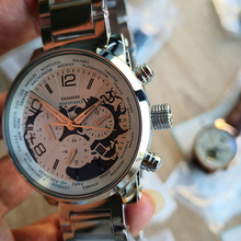 Wrist-Watches Automatic Mechanical Stainless-Strap AAA Classic-Design Three-Dials Mens