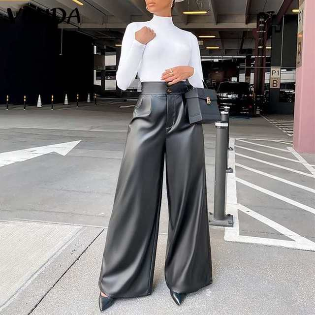Leather Long Pants  5