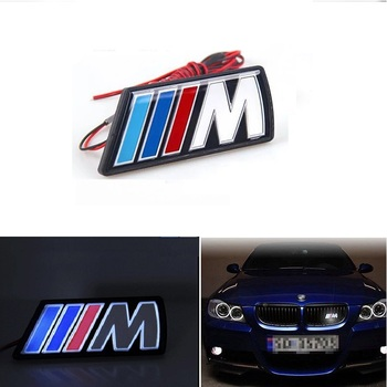 Car Accessories For BMW M Emblem E36 E46 E90 E60 F30 F10 F20 E91 E53 E70 X5 X3 M3 5 Car Styling Car Front Hood Grille LED Light car accessories front grille slot emblem vent bracket for m3 m5 m6 m2 m1 m4 m7 m8 m series m color car styling badge stickers