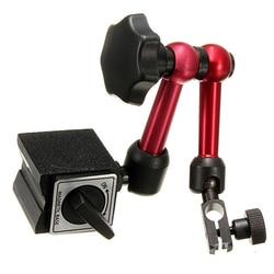 Mini Universal Flexible Dial Test Indicator Support Holder Stand Magnetic Base Precision Indicators Measurement Tool Set HOT w Magnetyczne hamulce proszkowe od Narzędzia na