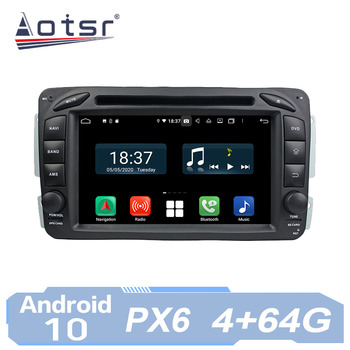 AOTSR Car Radio Auto Android 10 For Mercedes Benz W163 W209 2002 - 2005 W203 2000 - 2004 W170 W210 W168 GPS IPS Player AutoRadio image