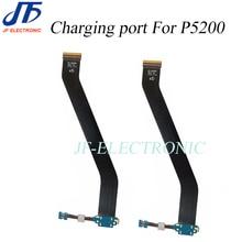 ل Tab3 P5200 شحن الكابلات المرنة USB حوض موصل شاحن ميناء لسامسونج غالاكسي تبويب 3 P5210 10 قطعة/الوحدة