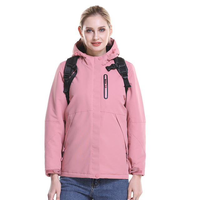 ZYNNEVA Outdoor Hiking Electric Heated Jacket Women Winter Usb Heating Windbreaker Female Feather Cotton Thermal Clothing GK2218 1