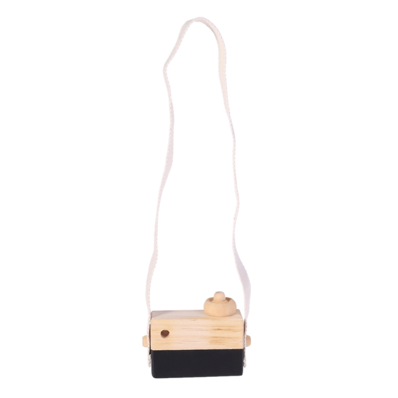 Wooden Toy Camera Kids Creative Neck Hanging Rope Toys Photography Prop Gift T3LA